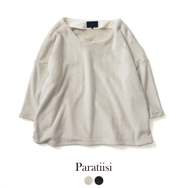 【SALE!30%OFF】 Paratiisi パラティッシ VELOR BOMBER WIDE TOP ベロア ボンバー ワイド トップス ・PA8AW-JE05【セール】【返品交換不可】【SALE】