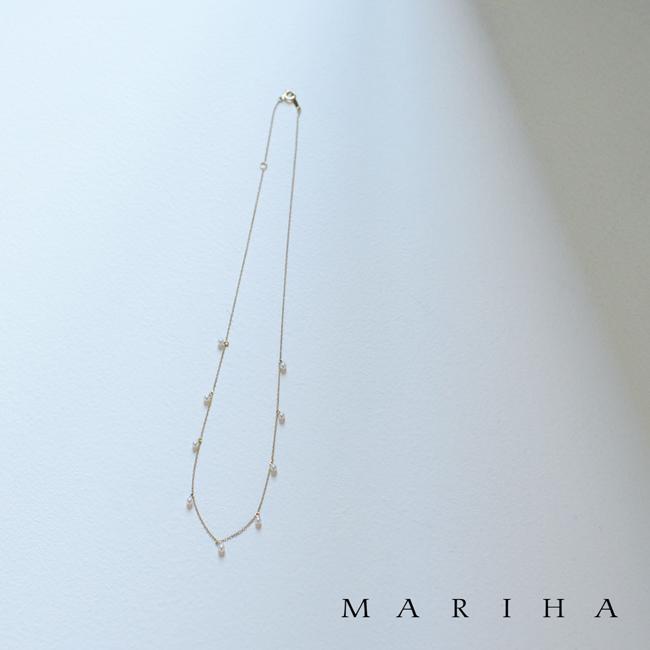 MARIHA マリハ Moon Drops 月の雫 シリーズ 9P ゴールドチェーン ネックレス 淡水パール・1102520210199 #0129【送料無料】