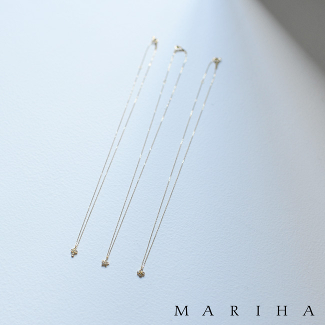 MARIHA マリハ Stardust スターダストシリーズ ダイヤモンド ゴールドチェーン ネックレス 40cm K18WG K18YG・102530200199 【送料無料】 #0125