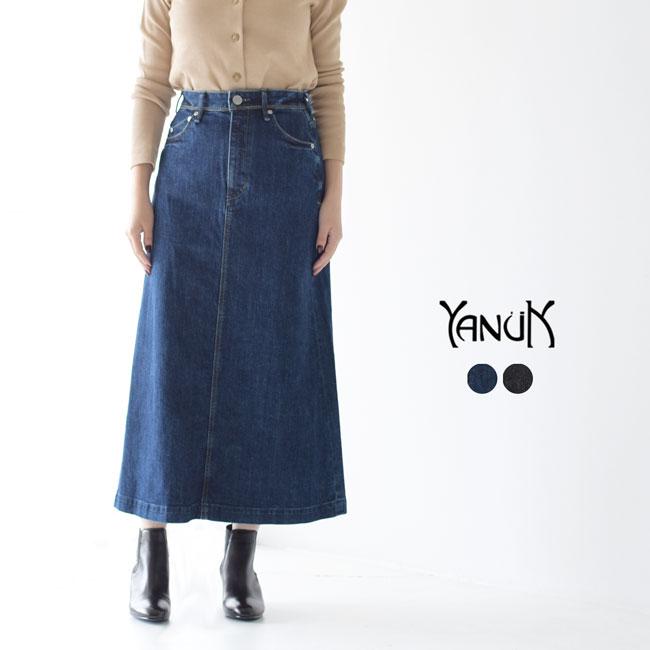 ヤヌーク/YANUK ロングAラインスカート/Long A-line Skirt ミモレ丈 スカート レディース ボトムス 57193034 57193039 0912:Crouka/クローカ