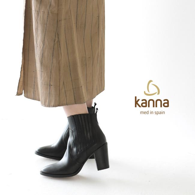 カンナ/Kanna チャンキーヒール サイドジップ ショート ブーツ ウエスタンブーツ レディース ブーツ 97-KAN-19KI9611 1025【送料無料】