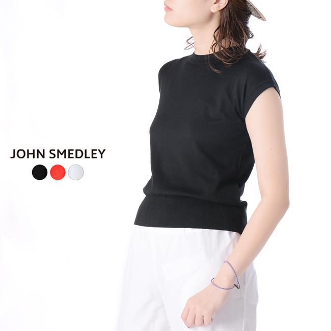 ジョンスメドレー JOHN SMEDLEY コットンニット クルーネック フレンチスリーブ 半袖 ・S4297 【送料無料】 2019春夏新作 #0306