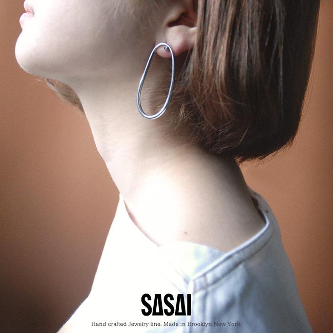 ササイ SASAI Shimai earrings オブロング ピアス シルバーピアス ・18AW014 【送料無料】2019春夏新作 #0318