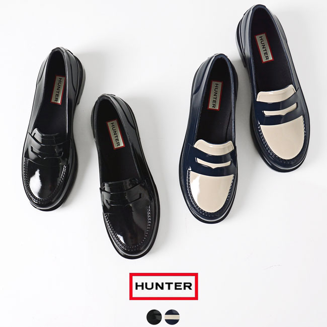 26c9488ff0f  0426 in the spring and summer latest hunter HUNTER ORIGINAL PENNY LOAFER  penny rubber loafer pullover boots