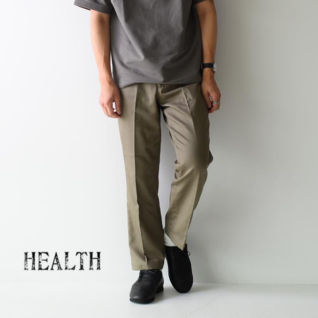 ヘルス HEALTH ワイドシルエット センタープレス パンツ トラウザーズ スラックス メンズ 2020秋冬 ボトムス HP20-801 【送料無料】 0713
