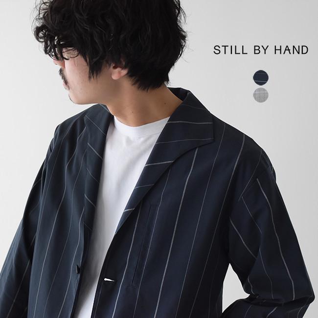 【SALE!50%OFF】スティルバイハンド STILL BY HAND イタリアンカラー ストライプ チェック シングルボタン ジャケット メンズ 2020春夏 アウター JK01201 【送料無料】【セール】【返品交換不可】【SALE】