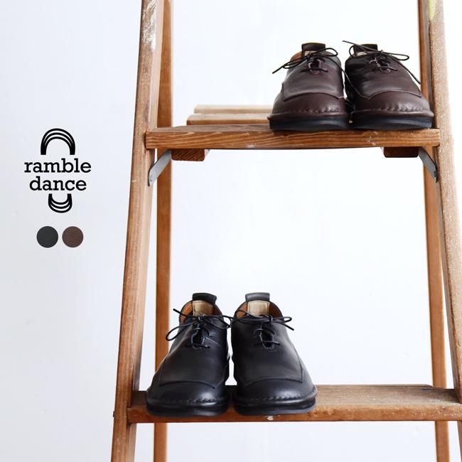 ランブルダンス ramble dance オイルシュリンクレザー レースアップ フラット シューズ レディース 2020春夏 靴 22.5cm-24.5cm 352-01604 【送料無料】0504[クーポン対象外]