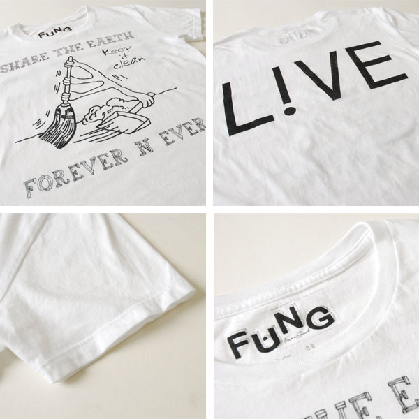 6/16 from 9:59! FUNG Fung s / s crew Tee / print short-sleeve T-keep it clean (3 colors) (unisex)