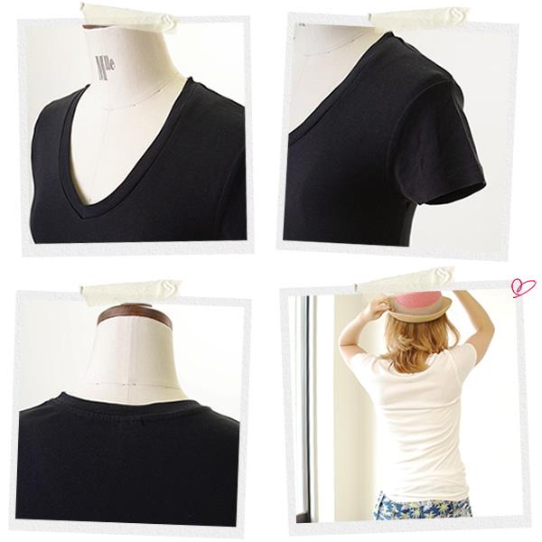 ALTERNATIVE alternative V-NECK/V BABY RIB v-neck t-shirt and 01211r1 (3 colors) (S & M)