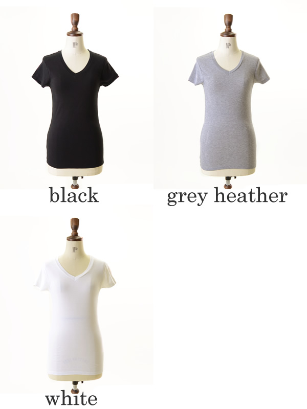 ALTERNATIVE alternative V-NECK/V BABY RIB v-neck t-shirt and 01211r1 (3 colors) (S & M)