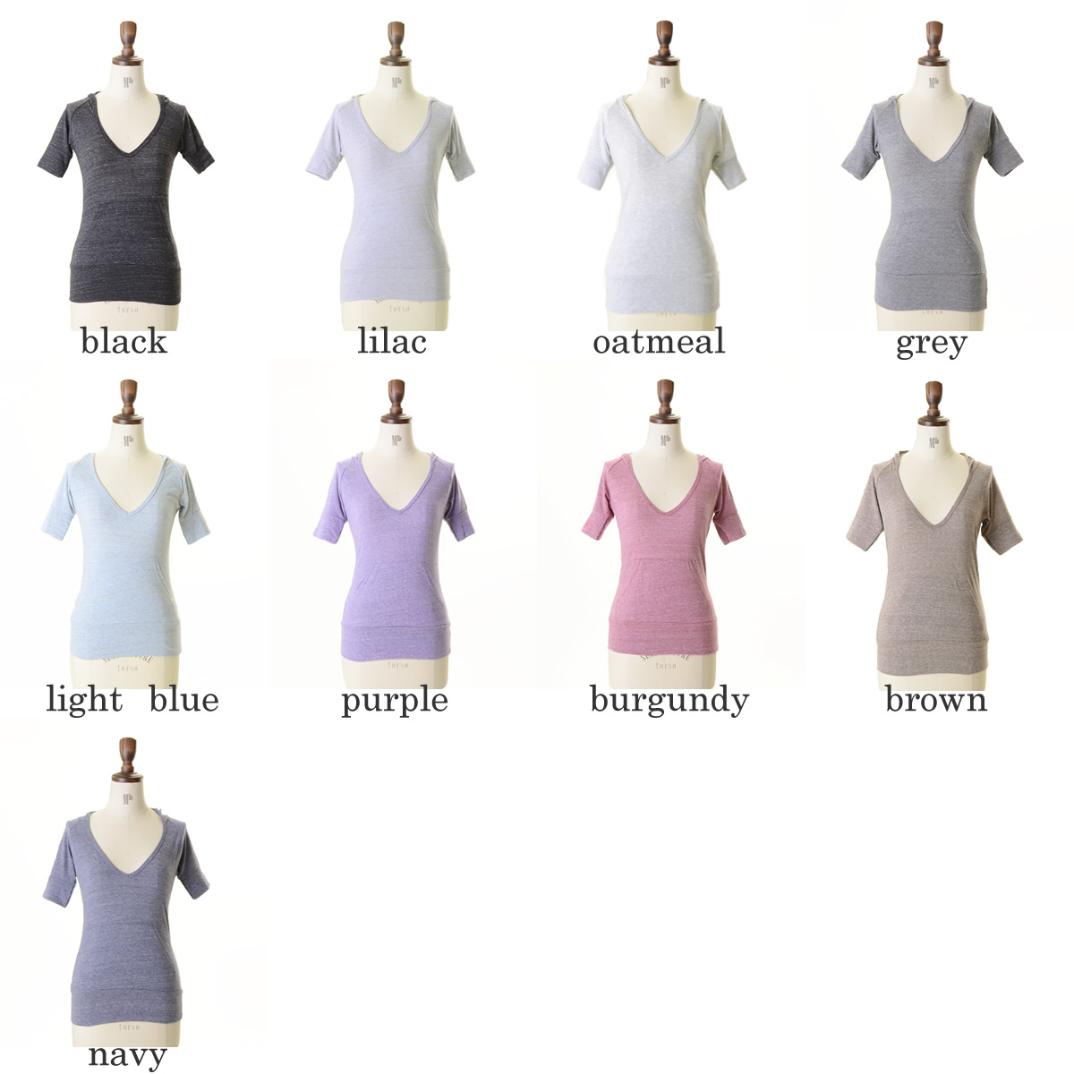 alternative alternative eco heather hoody short sleeve hood T (9 colors) (S)