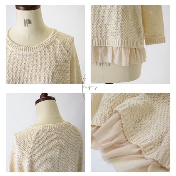 yangany yongyi hem frill Kanoko crochet photono over f-5337 (3 colors) (M) [10P02Aug14]
