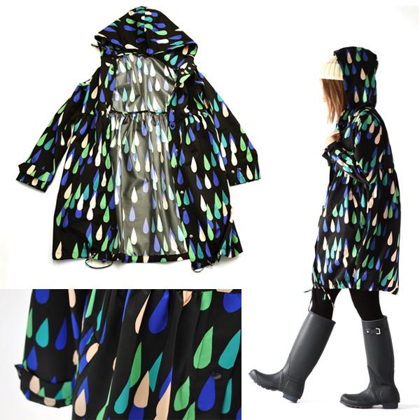 Marimekko Marimekko Pisaroi 雨衣 VESIKKO 和皮萨罗我模式雨衣 / 5234139623 (XS-S)