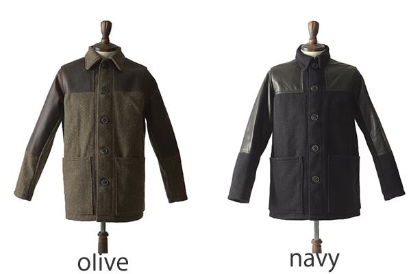 db5b896a0d89 Nigel Cabourn Nigel Kay Bonn DONKEY JACKET  herringbone wool X leather  donkey jacket .8081100020.00021 (S M L
