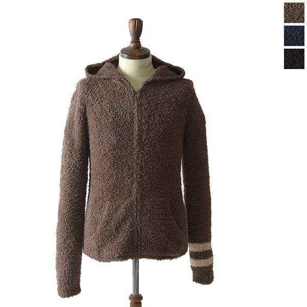 BAREFOOT DREAMS ベアフットドリームス C594 Men's zip hoodie with stripe ジップアップパーカー ナチュラル シンプル エアリー・942040003 (全3色)(S・M・L)【送料無料】