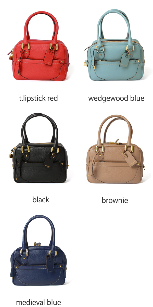J & M DAVIDSON ジェイアンドエムデヴィッドソン MINI MIA / grain leather Boston bag-200-7266 (6 colors)