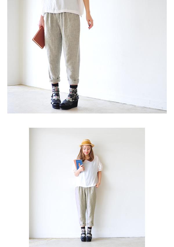 Orslow オアスロウ BILLY JEAN/린 넨 및 린 넨 인디 고 테이퍼 드 팬츠/00-5560L (2 컬러) (S/M/L/LL)