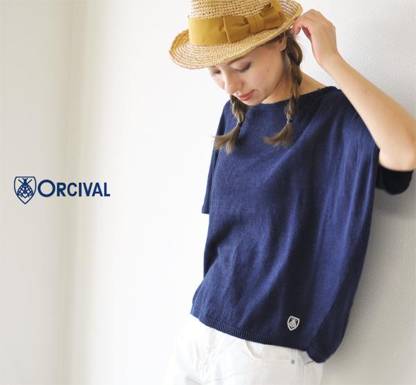 orcival オーシバル / オーチバル リネンニット sleeve ワイドプル over rc-4140 (7 colors) (free)