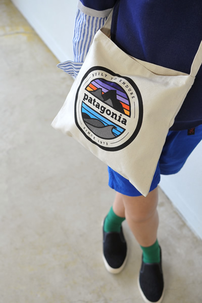 Patagonia 파 Rivet Logo Musette Bag/로고 프린트 캔버스 숄더 가방 91826 (unisex)
