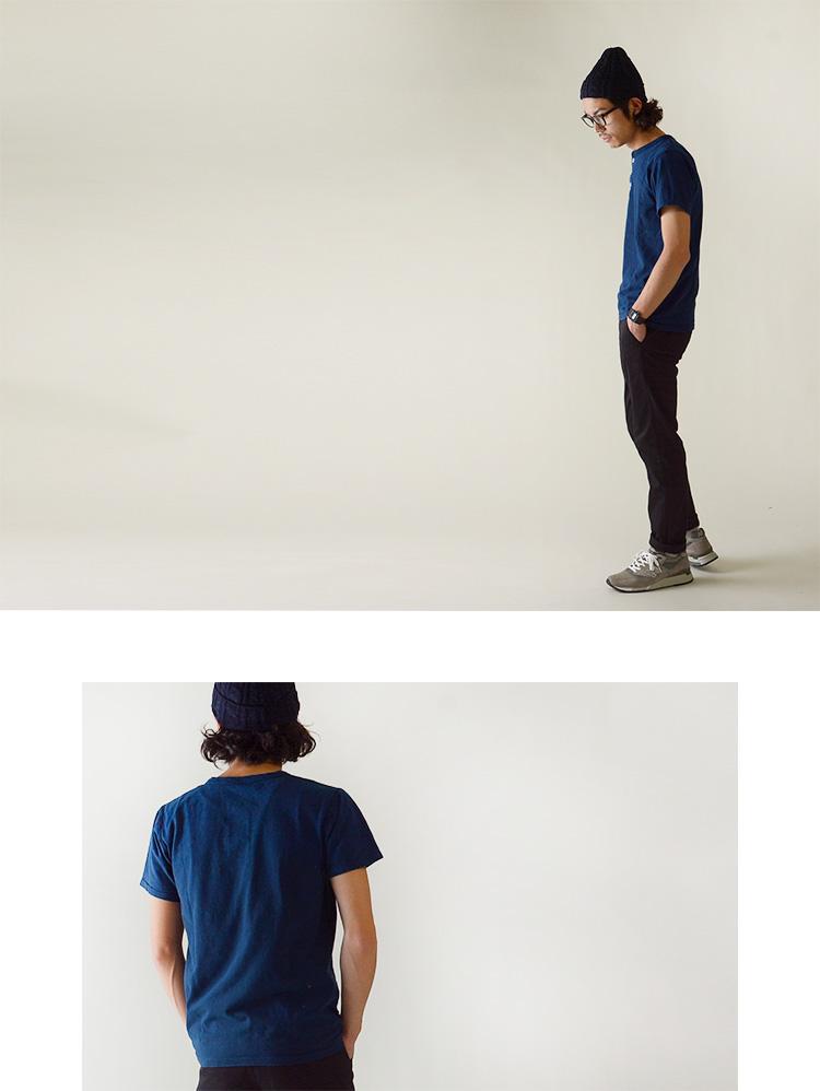 Velva Sheen 베르바신인디고헨리넥크 T셔츠・1614007 (S・M・L)