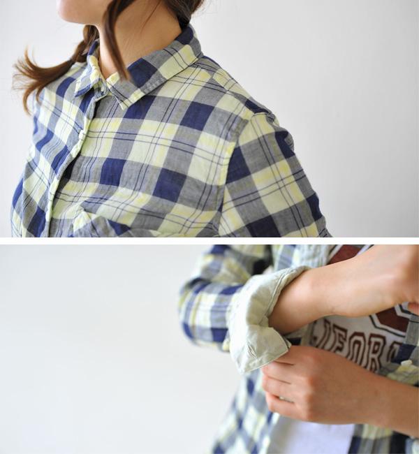 YANUK ヤヌーク Y Shirt Check Standard チェックスタンダード シャツ 送料無料W2IYEDH9
