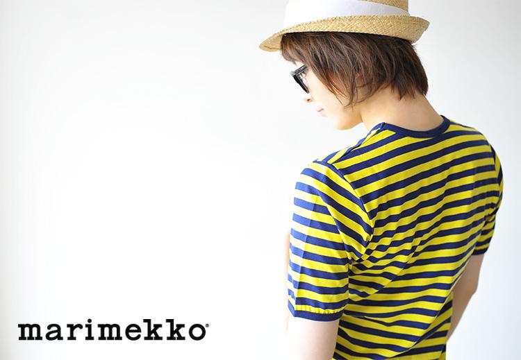 6b5825e5b ... marimekko マリメッコタサライタ short-sleeved horizontal stripe T-shirt ...