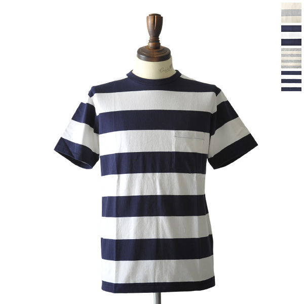 Velva Sheen ベルバシーン 국경 크루 넥 포켓 T 셔츠 161560w/n (모든 4 개의 색깔) (S/M/L)