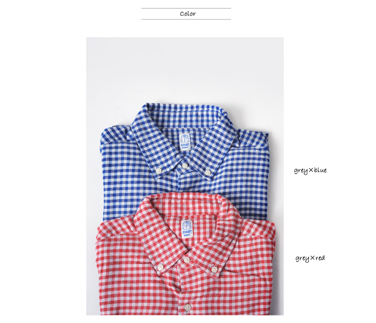 KATO`BASIC 집토끼-베이직 깅감 체크 코튼 네루 셔츠・bs531613 (전2색)(unisex)
