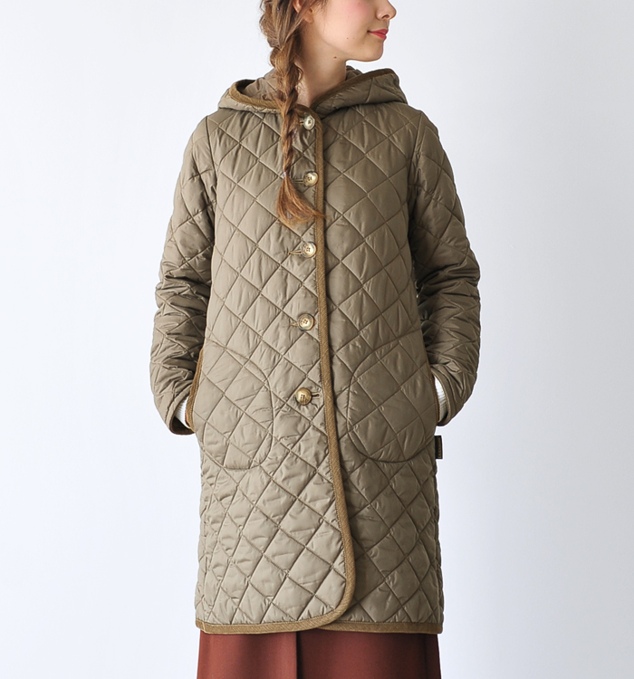 LAVENHAM lavenham BRUNDON / Brandon hood quilted coat (all 12 colors) (S, M, L)