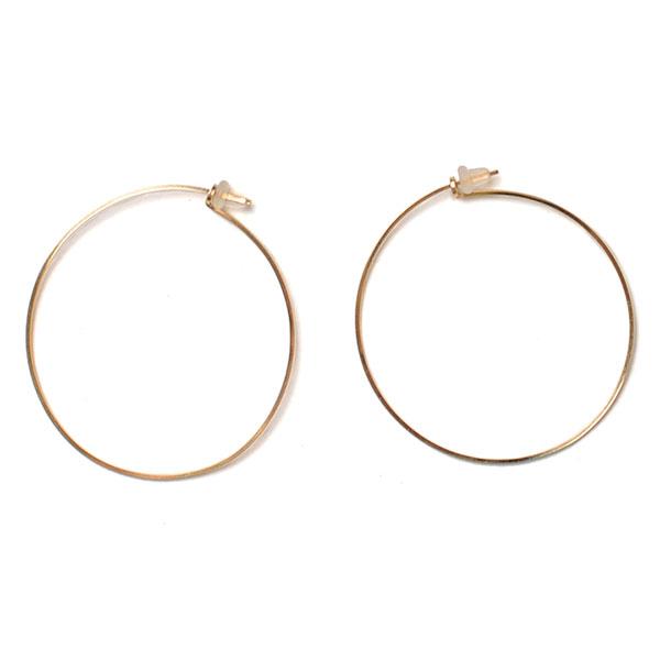 By Boe Biba 14 K Gold Wire Hoop Earrings 223sg 21 237sg 2 Colors