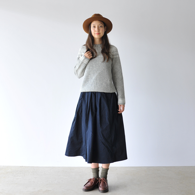 Nor ' easterly ノーイーストリー / ノアイーストリー Nordic pattern knit / sweater-3170-7 (all 4 colors) (unisex)