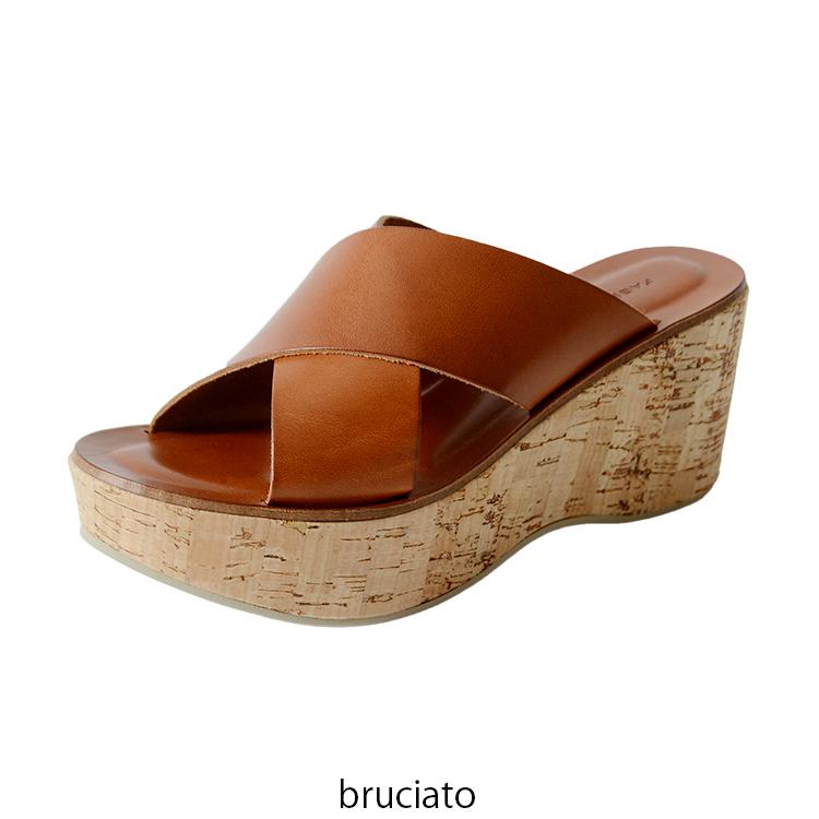 f9b649f2a38d Crouka  FABIO RUSCONI F biOrr Coe meat loss belt suede wedge sandals ...