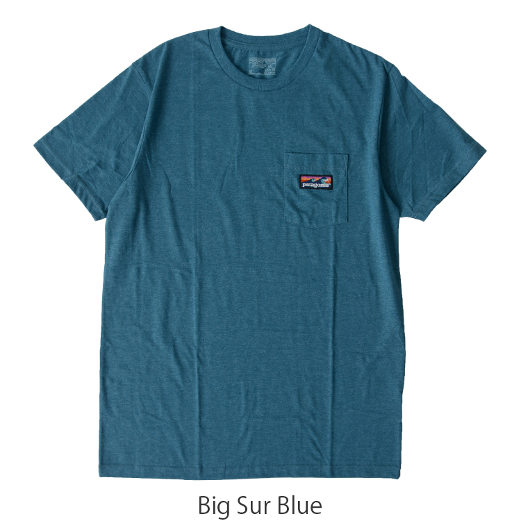 patagonia Patagonia M's Board Short Label Cotton/Poly Pocket T-Shirt men board  shorts label pocket T-shirt .39053 #0528 in the spring and summer latest  2017