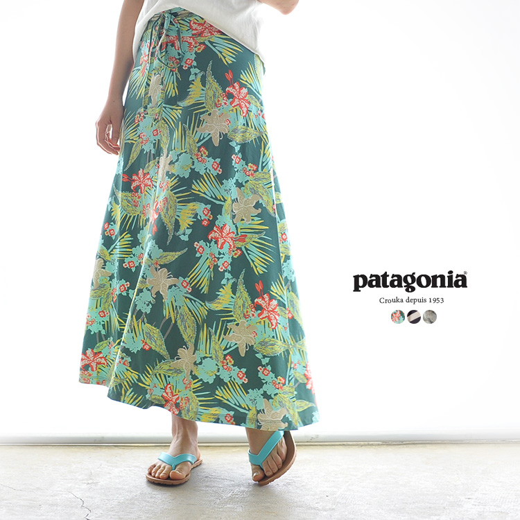 Patagonia 파 WOMEN 'S KAMALA MAXI SKIRT 카마 식물 프린트 맥시 스커트 베어 탑 튜브 탑 원피스/58580