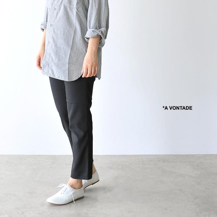 A Vontade アボンタージ Slim Easy Slacks スリムイージースリムスラックス テーパードパンツ・vtd-0291-pt 【送料無料】 #0515