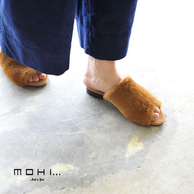 【SALE!40%OFF】 MOHI モヒ ムートン ファー サンダル ・911808MU #0921【セール】【返品交換不可】【SALE】