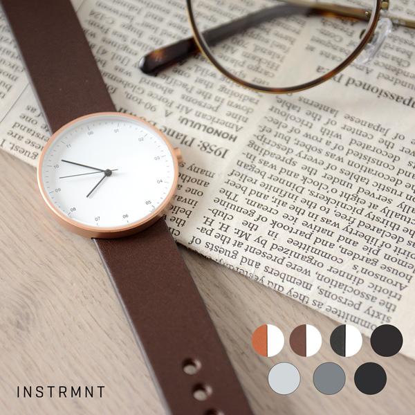 INSTRMNT インストゥルメント レザーストラップ リストウォッチ アナログ腕時計 ・ 3280 【送料無料】 #1226