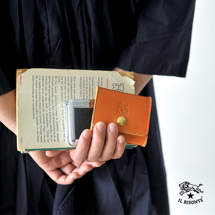 イルビゾンテ IL BISONTE スクエア スナップボタン コンパクト コインケース 小銭入れ ミニ財布 四角 レディース メンズ 財布 54123-0-0241 54182-3-04141 #0315[クーポン対象外]【送料無料】