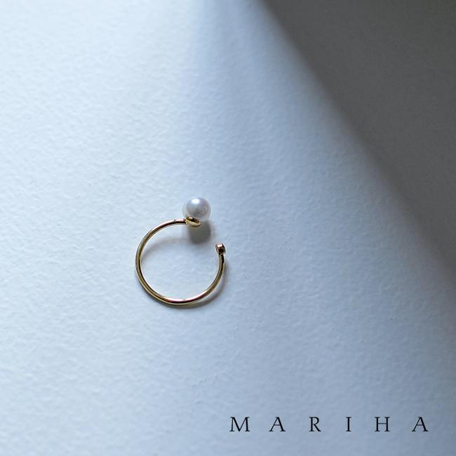 MARIHA マリハ Moon Drops 月の雫 シリーズ パール&ダイヤモンド ゴールドリング 指輪・11015201901 【送料無料】 #0129