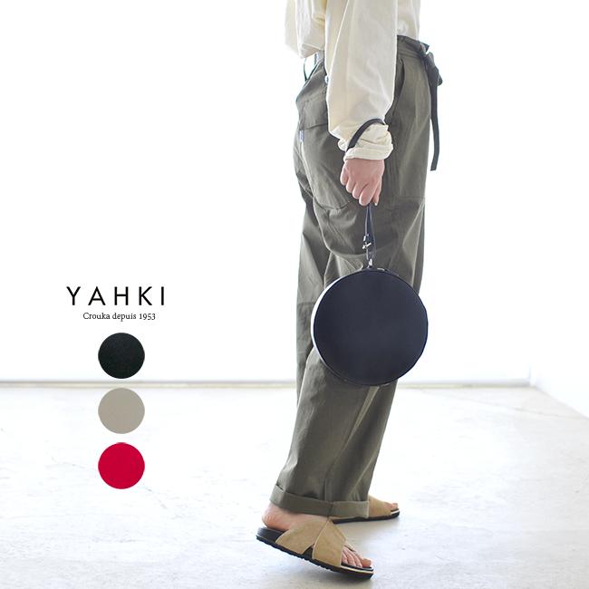【SALE!20%OFF】YAHKI ヤーキ レザー サークル ハンドバッグ クラッチバッグ #0320【セール】【返品交換不可】【SALE】