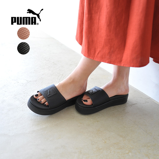 3ae627717c4 PUMA Puma En Pointe collection Platform Slide Women s EP platform slide  women sandals .366122  0522