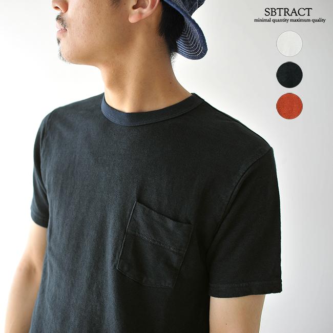 【SALE!20%OFF】SBTRACT サブトラクト LINEN CREWNECK TEE SHIRTS リネンクルーネックポケットTシャツ ・SB-034 #0515【セール】【返品交換不可】【SALE】