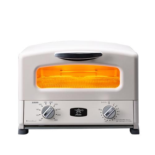 アラジン グラファイトグリル&トースター(4枚焼き) [AGT-G13A-W] カラー:ホワイト【送料無料※沖縄・離島除く】遠赤グラファイト搭載 調理 料理 グリルパン・グリルネット付き グラファイトトースター センゴク 2018年モデル