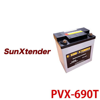 太陽電池モジュールで発電された電力を蓄えるために設置 直営ストア 電菱 DENRYO 独立型システム用 ディープサイクルバッテリー 海外 離島除く 送料無料 太陽光発電 沖縄 PVX-690T