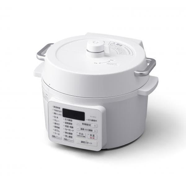 アイリスオーヤマ 電気圧力鍋2.2L [PC-MA2-W] カラー:ホワイト【送料無料※沖縄・離島除く】卓上鍋 レシピブック 無水鍋 蒸し 保温 発酵