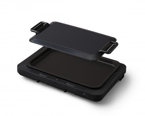 アイリスオーヤマ ホットプレート 左右温度調整 1枚 [WHP-011-B] カラー:ブラック【送料別】たこ焼き器 焼肉 タコパ うちパ ホームパーティ ディンプルプレート おしゃれ