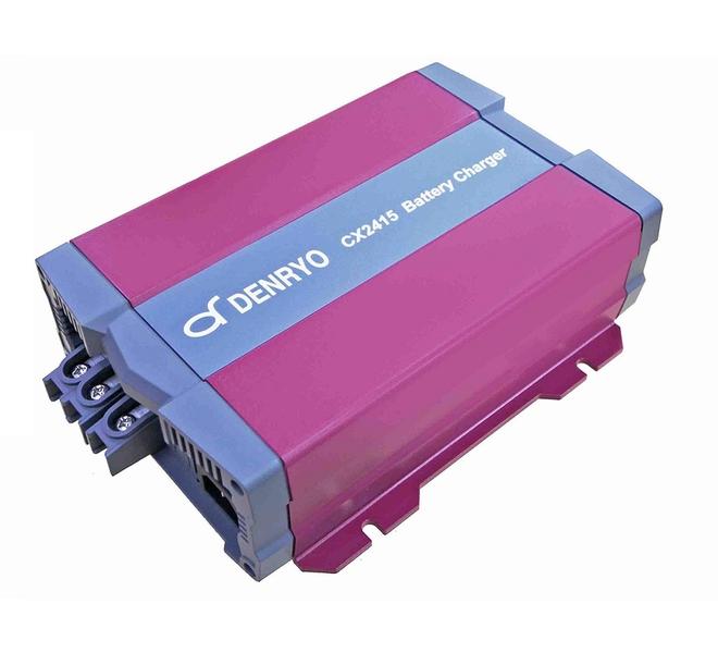 【送料無料※】【電菱 DENRYO】アドバンストバッテリー充電器 CX2415 (適合バッテリー:鉛蓄電池/リチウムイオン/ゲル/AGM)【※沖縄・離島除く】