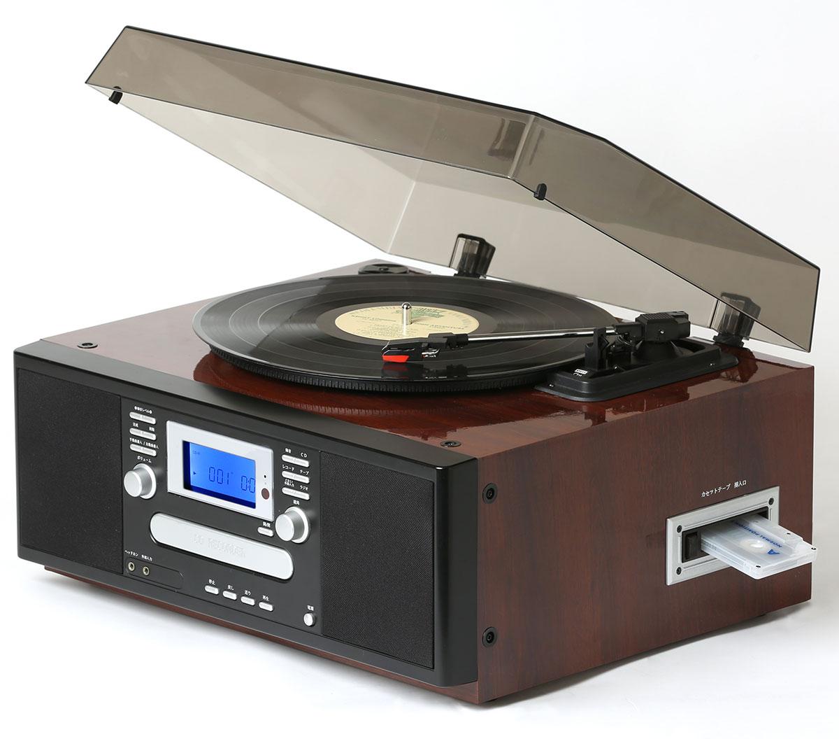 とうしょう きれいな鏡面ピアノ仕上げのCDにコピーできるマルチプレーヤー [TS-7885PBR] ピアノブラウン【送料無料※沖縄・離島除く】ラジカセ レトロ レコードプレーヤー