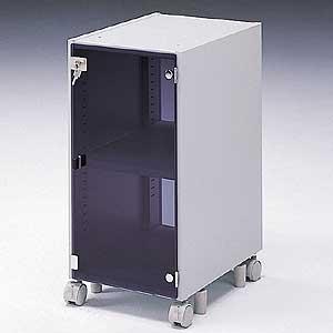 サンワサプライ CPUボックス(独立・固定両用、扉付)[CAI-CP7N] 【送料無料※沖縄・離島を除く】 中継機器・ミニタワーCPU収納中棚 デスク下収納ワゴン デスク下ラック