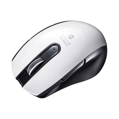 サンワサプライ Bluetooth 5.0 ブルーLEDマウス(5ボタン・左右対称・ホワイト)[MA-BTBL171W]【送料別】5ボタン サイドボタン カウント切り替え 小型 ミニサイズ